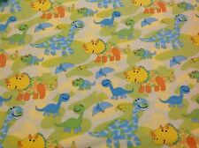 ~ FLANNEL~Dinosaur~Cameo~ Quilting~ Fabric~ Flannelette~Blue~ Boys~ FQ~