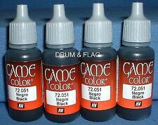 Vallejo Black Game Color 1 Paint ( 17 ml ) Val 72051