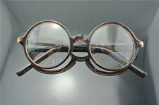 43mm Vintage Round Eyeglass Frame Retro Glasses Eyeglasses Spectacles Amber