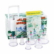 6 Cups +Pump Vacuum Cupping Acupuncture Hujama Chinese Therapy Treatment Suction