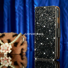 Luxury Bling Diamond Leather Cards Flip Wallet Case Cover For Apple iPhone S001
