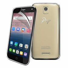 For Alcatel Pop 4 - Tough Thin Clear TPU Gel Case Cover & Screen Guard