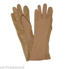 Pilot Nomex Flight Gloves Tan Fire Resistant Tactical Leather Sand Brown X-Large