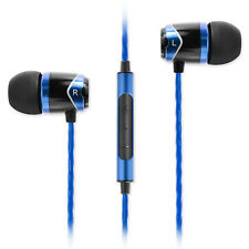 SoundMAGIC E10C In Ear Isolating Earphones with Mic - Black & Blue - NEW