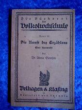 """""""Die Kunst des Erzählens - Eine Auswahl"""" von Dr. Anna Siemsen (1924)"""