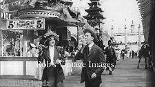 St. Louis World's Fair Photo Hot Dog  Frankfurter on Roll Guilded Age 1903