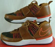 """New Mens 9.5 NIKE """"Zoom Revis TXT EXT"""" Brown Orange Leather Hiking Shoes $140"""