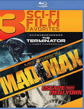 3 Sci-Fi Film Favorites: The Terminator/Mad Max/Escape from New York Blu-ray...