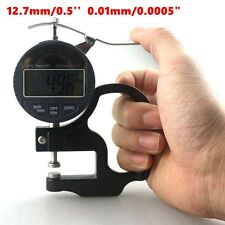 2.7mm 0.5'' Digital Thickness Meter Electronic Micrometer 0.01mm LCD Handle+ Box
