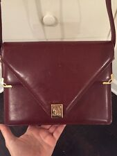 Authentic CARTIER Cartier Must De Vintage Bordeaux Shoulder Bag Leather Bag