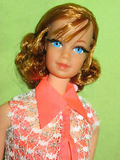 Vintage 1969 TALKING BARBIE DOLL Titian Reroot RARE Stacey Face Variation TALKS!