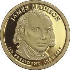 "2007 S James Madison Presidential Dollar ""Imperfect"" PROOF US Coin (Discounted!)"