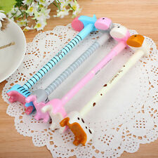 Free shipping 4pcs Cute Expression Donkey Ball Pen Gift Pen with Base