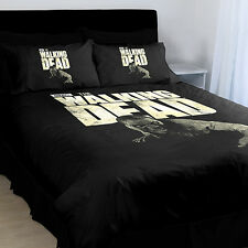 AMC The Walking Dead Stumpy Black Printed Queen Bed Quilt Cover Set New