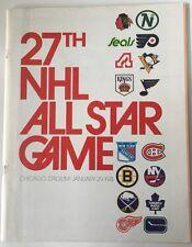 1974 27th NHL  Hockey All Star Game Program 1/29/1974 Chicago