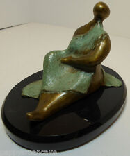 ORIGINAL. ERIC 27/56  MID-CENTURY WOMAN RECLINING  SCUPTURE SIGNED