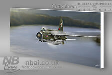 F.2A Lightning 92 Squadron Flagship CANVAS PRINT, Digital Artwork.