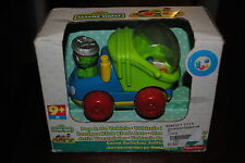 FISHER PRICE OSCAR THE GROUCH POP & GO VEHICLE VERY RARE IMPORT ONLY 1 ON E-BAY