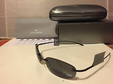 NEW Nike Linear Round Titanium Sunglasses Black Frame / Grey lens, EV0085-001