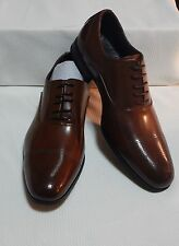 KENNETH COLE CAP TOE OXFORD( COGNAC ) NEW WITH BOX SIZE 11.5 M  #1964