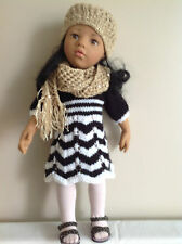 "Dolls Fashion clothes knitting  pattern. 18"" and  19"" doll."