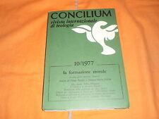 Concilium 10/77  la formazione morale