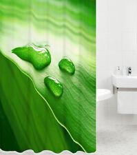 DUSCHVORHANG TEXTIL WANNENVORHANG BADEWANNENVORHANG GREEN LEAF 180 x 180 cm