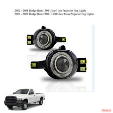 02-08 Dodge Ram 1500 2500 3500 Clear Halo Projector Fog Lights Replacement Bulbs