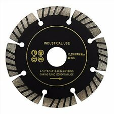 "Turbo Segment Cutting Diamond Blade 4-1/2"" Wet Dry General Tile Saw Concrete"