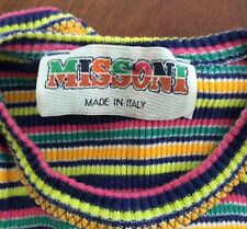 RARE 1960s Vintage Missoni Baby Infant Romper Made In Italy