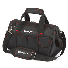 Hand Tool Bag 14'' Wide Mouth Carrying Case Sturdy Protector Storage Organiser
