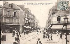 St NAZAIRE (44) - Place Carnot et Rue Ville-ès-Martin