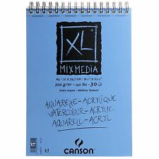 Canson XL Mixed Media Pad A4 300gsm 30 Sheets spiral bound drawing painting pad