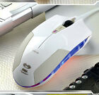 WHITE 1600DPI 7D E-3LUE COBRA 6 Buttons Blue Led Optical Usb Gaming Mouse UK
