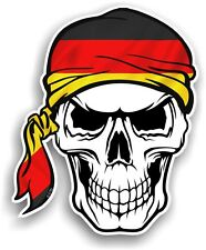 Skull With HEAD Bandana & Germany German Country Flag vinyl car sticker decal