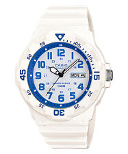 Casio Men's Sports Watch With White Blue Display, White Resin MRW-200HC-7B2