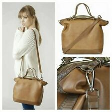 Topshop Tan Brown Tote Slouch Handbag Cross Body Shoulder Faux Leather Bag NEW