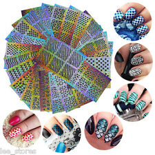 24Sheets Beauty Nail Art Decals Manicure Stencil Stickers Stamping Art Decor