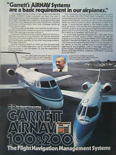 10/1977 PUB GARRETT AIRNAV FLIGHT NAVIGATION LEARJET 35 GULFSTREAM ORIGINAL AD