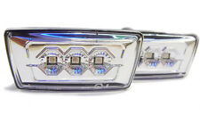 Vauxhall Corsa D 06 + Crystal Chrome Clear LED Side Repeaters Indicators Opel