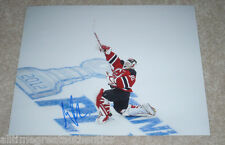 MARTIN BRODEUR HAND SIGNED AUTHENTIC NEW JERSEY DEVILS 8X10 PHOTO W/COA PROOF