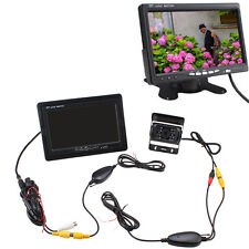 "7"" TFT LCD Rear View Monitor + Wireless Night Vision Car Reverse Backup Camera"