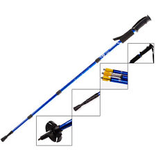 Walking Hiking Trekking Trail Poles 4-Section Adjustable Anti-Slip Canes Outdoor