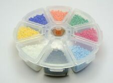 100 gram (6000pcs) 2mm (10/0) Glass Opaque Seed Beads + Storage Box