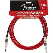 Fender® 10'  California Series Instrument Cable Lake Candy Apple Red #0990510009