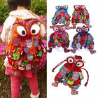 Colorful Kid Children Owl Ethnic Backpack Schoolbag Shoulder Book Bag Preschool