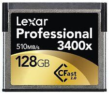 Lexar 3400x 128GB CFast 2.0 Memory Card For URSA  Amira  XC10  C300 MARKII