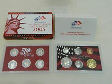 United States Mint silver proof set 2005 11 coins