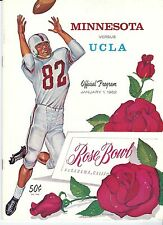 1962 Rose Bowl Program UCLA Bruins - Minnesota Gophers Bobby Bell  & Carl Eller