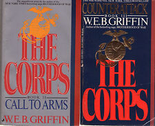 Complete Set Lot of 10 The Corps Books by W.E.B. Griffin (Miltary, War Fiction)